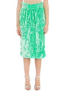 Victoria Beckham-Gonna Tube Skirt in ciniglia verde fluo