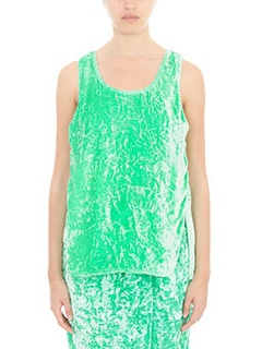 Victoria Beckham-Top in ciniglia verde fluo