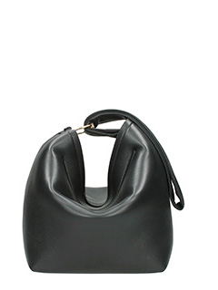 Victoria Beckham-Tissue black leather bag