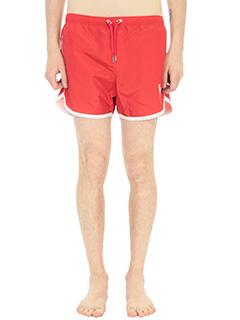 Neil Barrett-Costume boxer in tessuto tecnico rosso