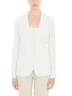Theory-Blazer  Grison in cr�pe bianca
