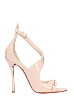 Christian Louboutin-Malefissima rose-pink leather sandals