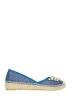 Ras-Espadrillas 8576 in denim blu
