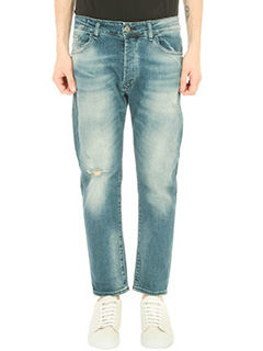Low Brand-Jeans Carrot in denim washed blu