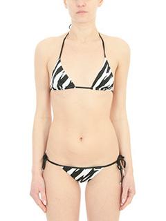 Dsquared 2-Bikini Triangle Bra in lycra bianca nera