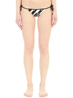 Dsquared 2-Slip Bikini in lycra nera bianca