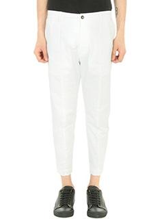 Low Brand-Pantalone T 7.0 in cotone bianco