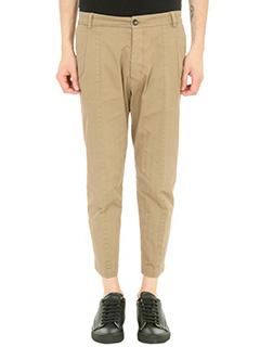 Low Brand-Pantalone Fantasy in cotone beige