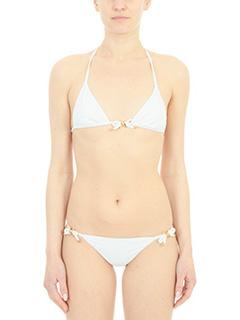 Dsquared 2-Bikini Triangle Bra in lycra bianca