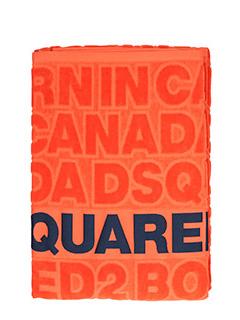 Dsquared 2-Asciugamano Beach Towel in spugna arancione. stampa logo