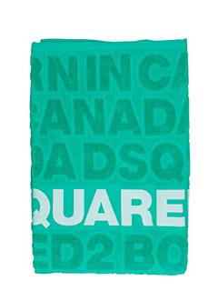 Dsquared 2-Asciugamano Beach Towel in spugna verde. stampa logo