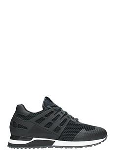 Thoms Nicoll-Sneakers Running in tessuto tecnico nero