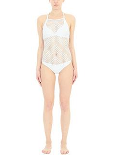 Despi-Alambrado white polyamide beachwear