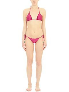Despi-Costume Cherry Bikini in lycra bordeaux-coppe imbottite-dettaglio lacci con pietre turchesi