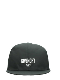 Givenchy-Cappello Logo in tessuto nero