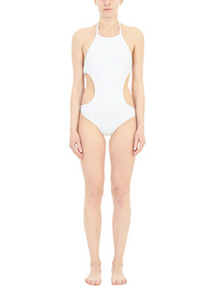 Salinas-Maillot Engana white polyamide beachwear