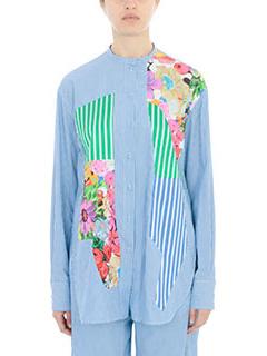 PORTS 1961-Camicia in cotone azzurro