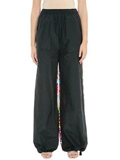 PORTS 1961-Pantaloni in cotone nero e multicolor