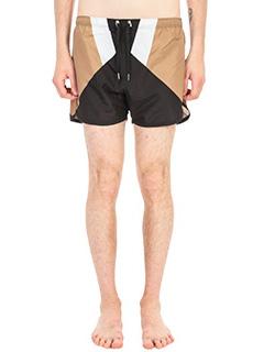 Neil Barrett-Costume Boxer in tessuto tecnico nero bianco beige
