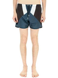 Neil Barrett-Costume Boxer in tessuto tecnico blu/nero