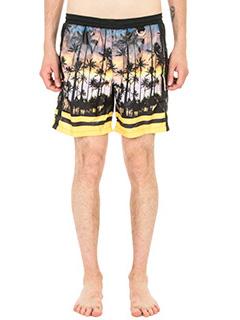 Low Brand-Costume in tessuto tecnico stampa palme multicolor