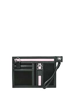 Kenzo-A5 Kenzo black canvas clutch