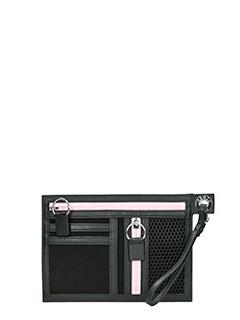 Kenzo-Pochette A5 Signataure in tela nera