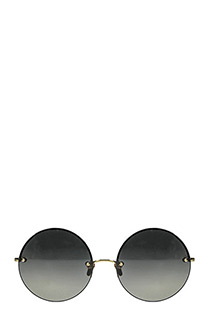 Linda Farrow-Occhiali Luxe in acciaio oro