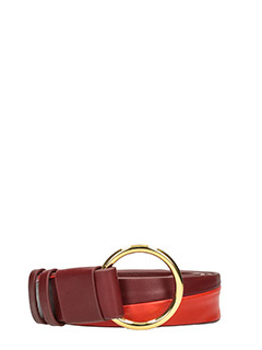 Diane Von Furstenberg-bordeaux leather belt