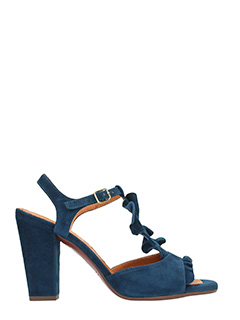 Chie Mihara-Sandali Aubo in suede blue