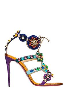 Christian Louboutin-Kaleikita 100 multicolor suede sandals
