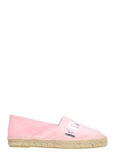 Kenzo-rose-pink suede espadrilles