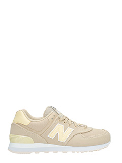 New Balance-Sneakers 574 in tessuto beige giallo