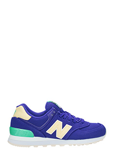 New Balance-Sneakers 574 in tessuto viola