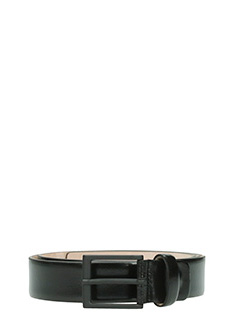 Deliberti-Cintura in pelle spazzolata nera