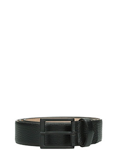 Deliberti-Cintura  in pelle di cervo nera