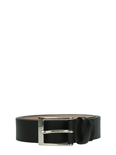 Deliberti-Cintura  in pelle soave opaca nera