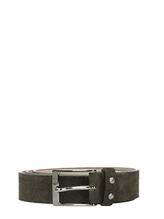 Deliberti-Cintura  in camoscio testa di moro