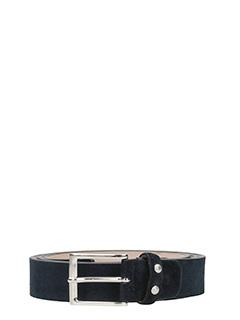 Deliberti-Cintura  in camoscio blue