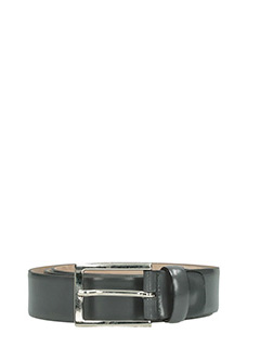 Deliberti-Cintura in pelle spazzolata grigia