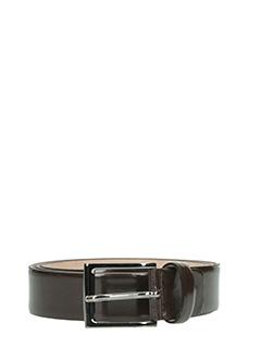 Deliberti-Cintura in pelle spazzolata testa di moro