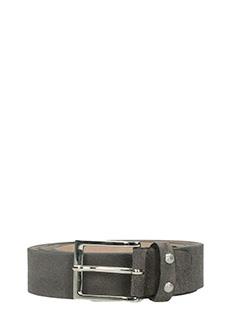 Deliberti-Cintura in pelle martellata nera