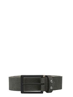 Deliberti-Cintura in camoscio grigio