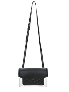 Givenchy-Borsa  Duetto two tones Cross body in pelle nera bianca