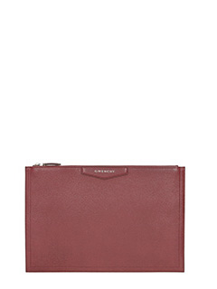 Givenchy-Pochette Antigona Pouch Large in pelle rossa