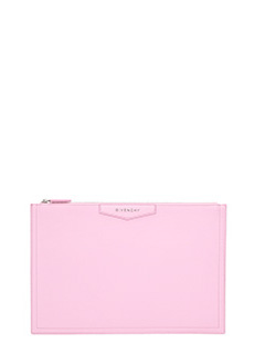 Givenchy-Pochette Antigona Pouch Large in pelle brigth pink