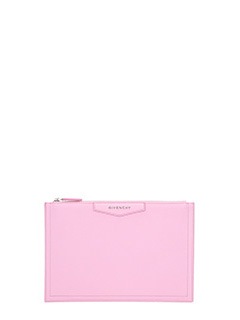 Givenchy-Pochette Antigona Media in pelle bright pink