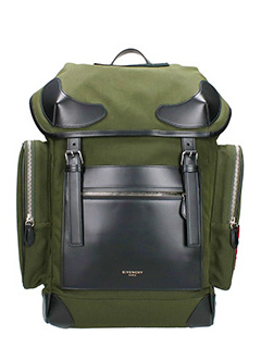 Givenchy-Leather Trimmed Rider Backpack