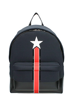Givenchy-Zaino Star and Stripe in nylon nero