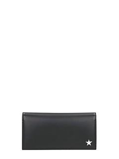 Givenchy-Portafoglio Star Print Flap in pelle nera